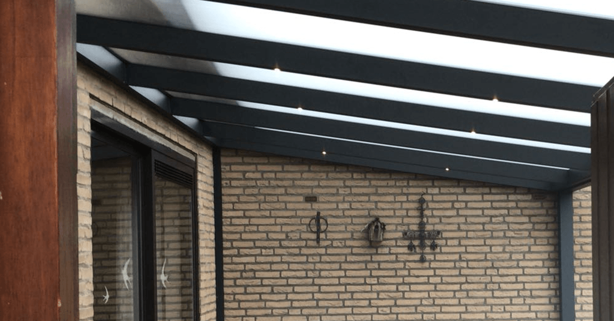 Jubileum-actie: Gratis LED-verlichting bij aanschaf Terrasoverkapping