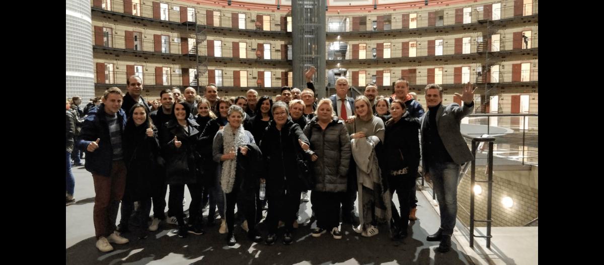 Geslaagd personeelsuitje naar de Koepelgevangenis in Breda