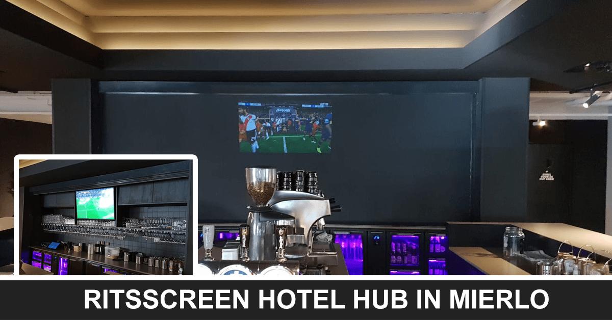 Ritsscreen ter afsluiting van bar bij Hotel Hub in Mierlo