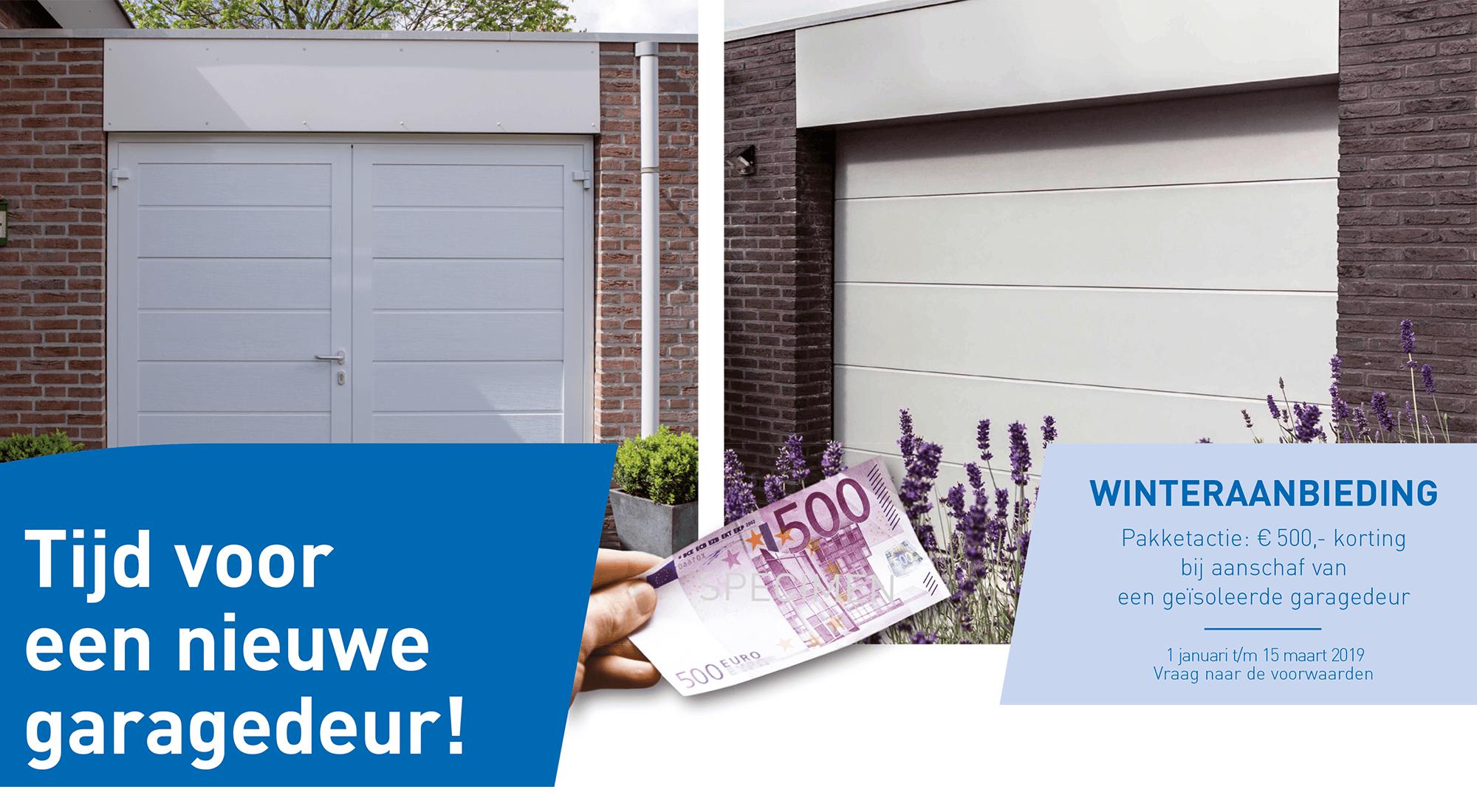 Winteractie: €500 korting op geïsoleerde garagedeur