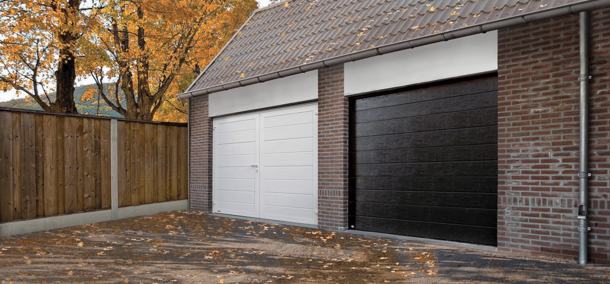 Herfstaanbiedingen voor sectionaaldeur en openslaande garagedeur