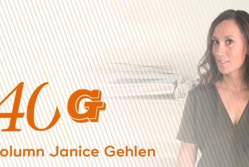 Column Janice Gehlen: 'Laat de zon maar komen! Mijn knikarmscherm is er klaar voor'